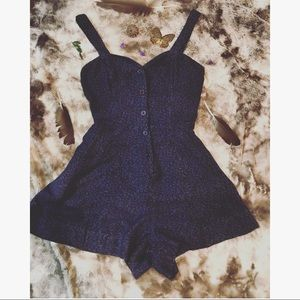Staring at stars Gorgeous Navy Floral Romper